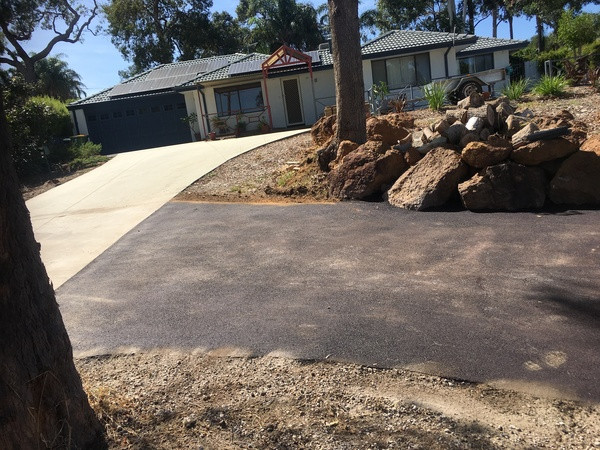 Red crossover/driveway construction