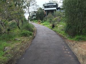 Completed asphalt driveway - Boya - Perth hills