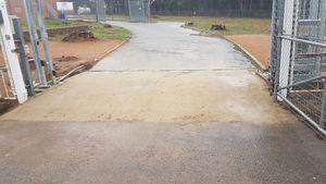Raise asphalt under gate (halfway through construction) - Bickley - Perth hills