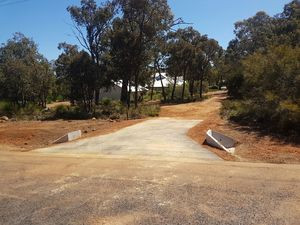 Culvert pipe and headwalls - crossover - Darlington Perth hills