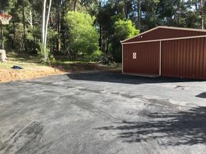 Black Hotmix Driveway - Stoneville - Perth Hills