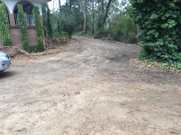 Proposed asphalt driveway