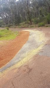 Driveway extension on curved driveway - Hovea - Perth hills