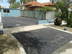 Perth residential apartment bitumen car park