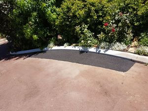 red asphalt repair patch in driveway - Gooseberry Hill - Perth hills