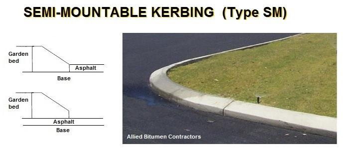 semi mountable kerbing