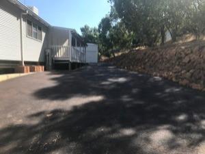 Red Hotmix driveway - Mt Richon - Perth Hills