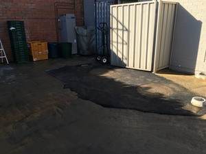 Grease trap - asphalt reinstate