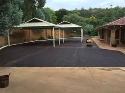 bitumen driveway parking area