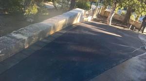 Asphalt driveway extension