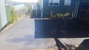 driveway extension - black bitumen