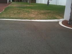 Bitumen driveway