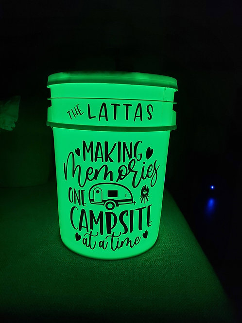 Personalized Camping Bucket