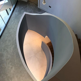 Painting paintor and decorating decorator horsham stairs curved arcitecture