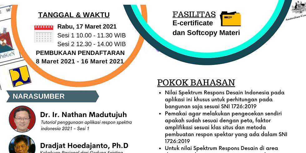 Tutorial Penggunaan Aplikasi Respon Spektra Indonesia 2021