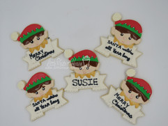 Personalized Elf Cookies