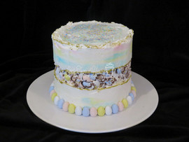 Mini egg fault line Cake
