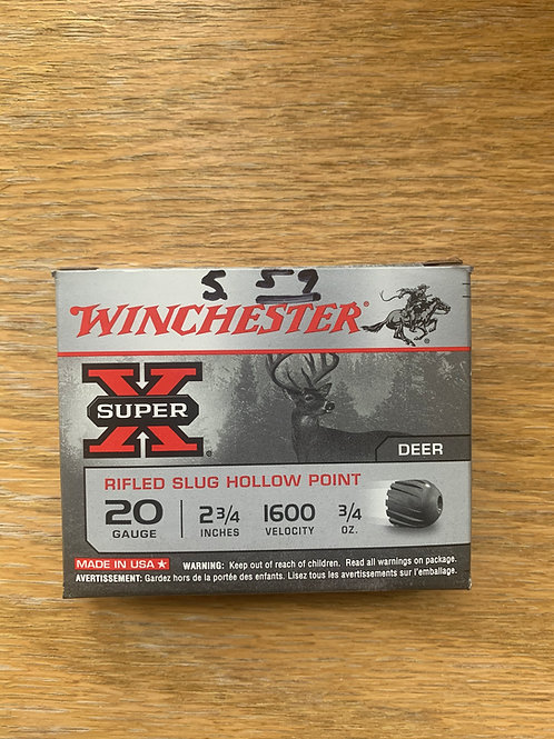 20 Gauge Winchester Rifled Hollow Point Slug