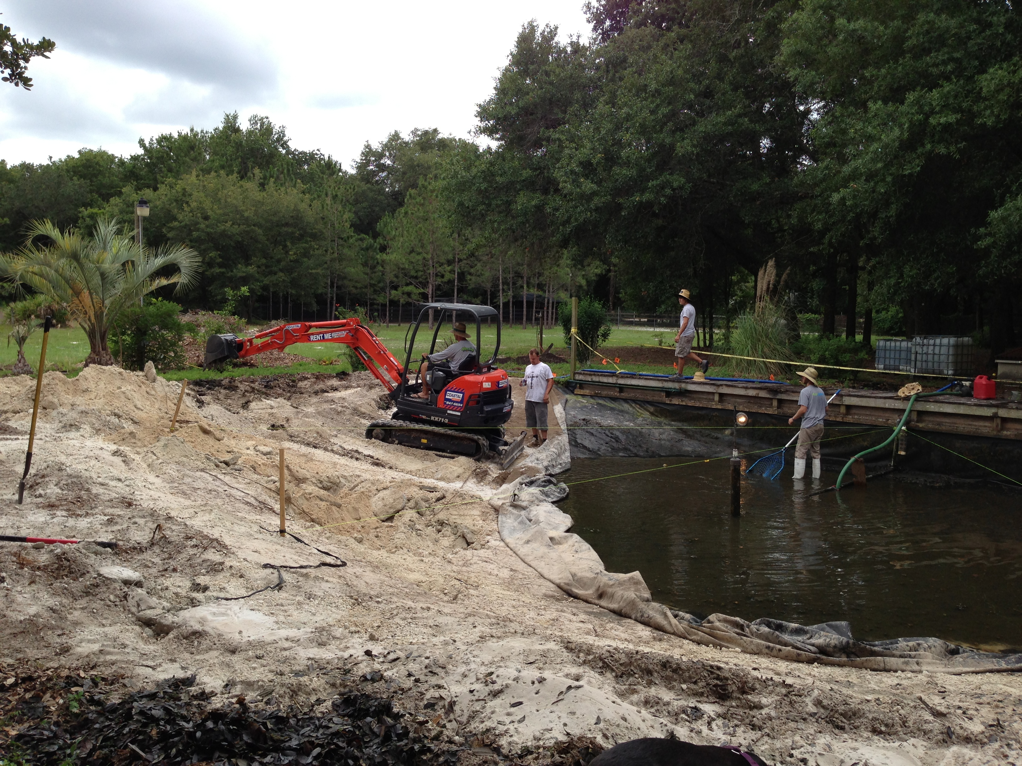Pond Installation Tampa Bay