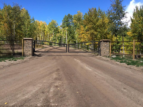 Custom Double Drive Entry Gate