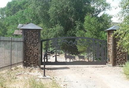 Custom Forest Scenery Entry Gate