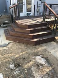 Custom Iron Deck Railing with 4x4 Mesh