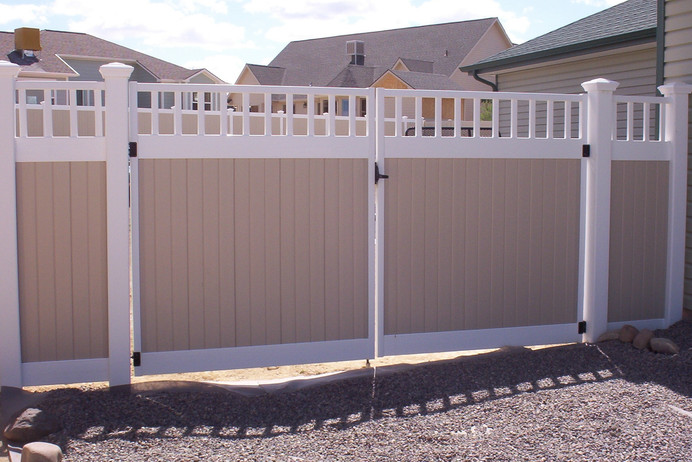 White_Tan Privacy with Accent Top