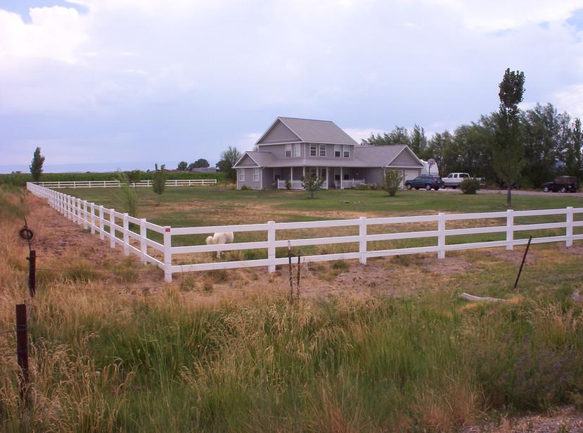 3-Rail White Ranch Rail