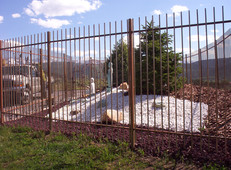 Rusty Picket Fence