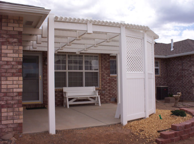 Pergola with Privacy Wall