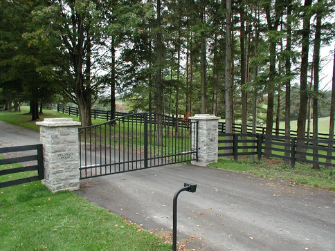 Custom Double Drive Gate with Solor Powered Operator