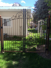 Custom Iron Double Drive Gate