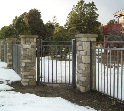 Custom 3-Rail Iron Fence