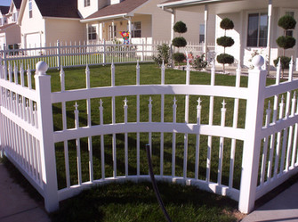 White Ornamental Staggered Picket