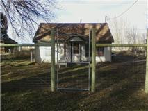 Game Fence with Chain Link Walk Gate