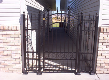 Custom Arched Top Iron Gate