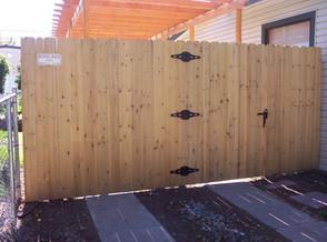 Cedar Privacy with Walk Gate
