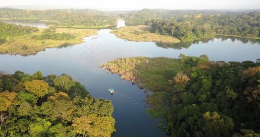 Panama Canal Gatun Lake aerial view FB.j