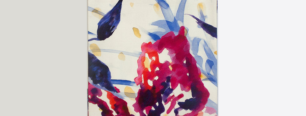 Abstract Floral Towel
