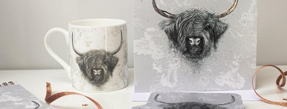 Highland Cow Desk Essentials Gift Set