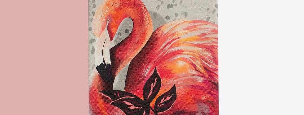 Sundown Flamingo Tea Towel