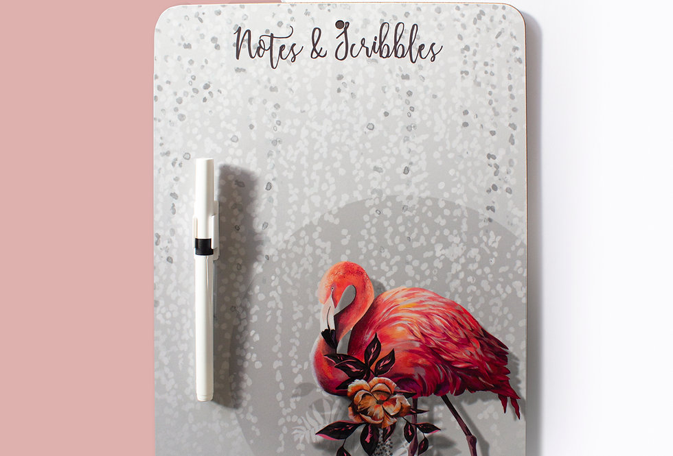 Sundown Flamingo Dry Wipe Memo Board