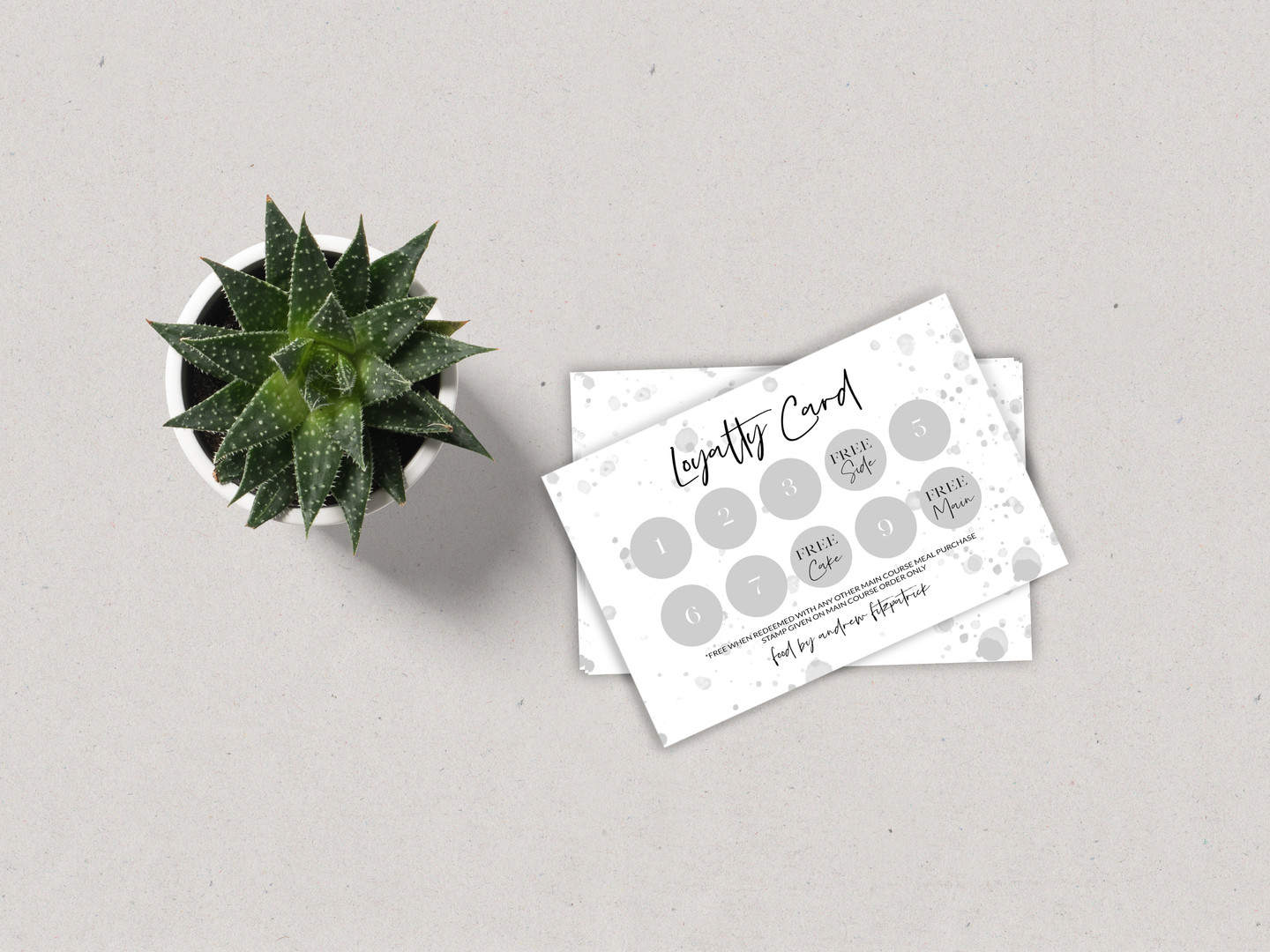 Food By Andrew Fitzpatrick Loyalty Card