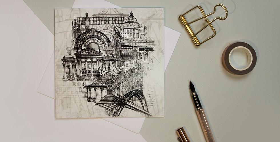 Greeting Card - Newcastle Upon Tyne | Rhianne Siân Designs