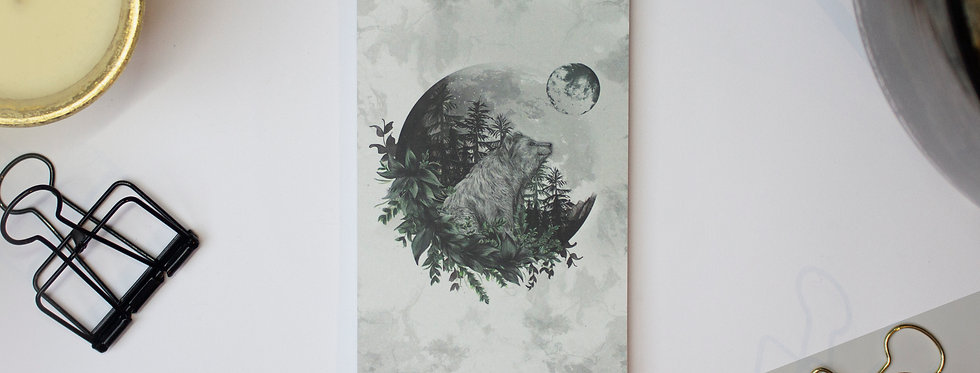 Luna Bear List Notepad