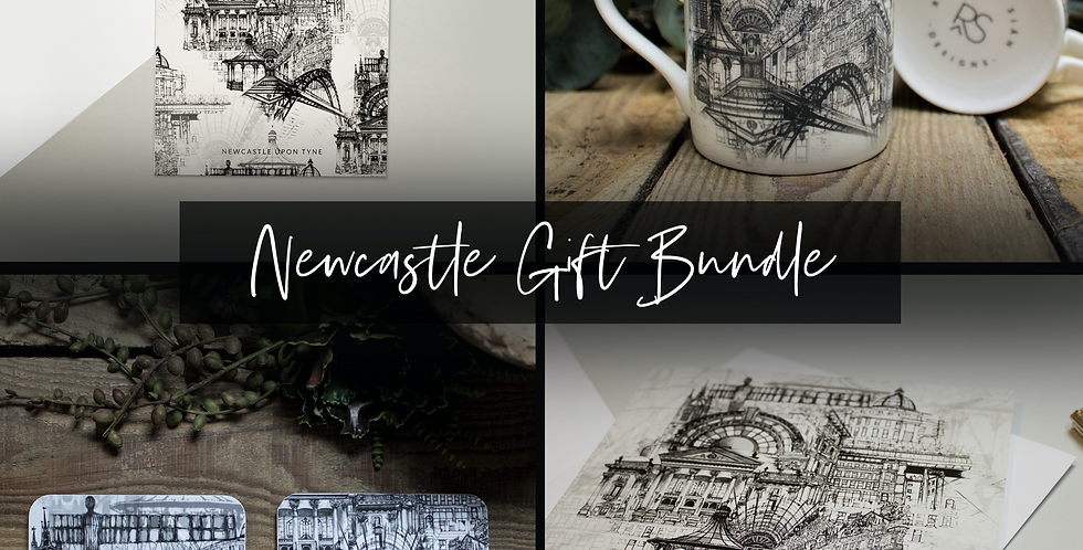 Newcastle Mug, Coasters & Print Gift Set