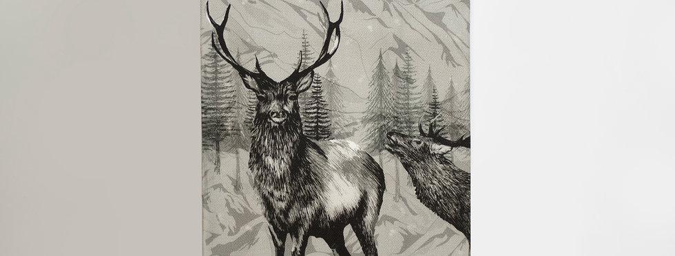 Highland Deer Tea Towel