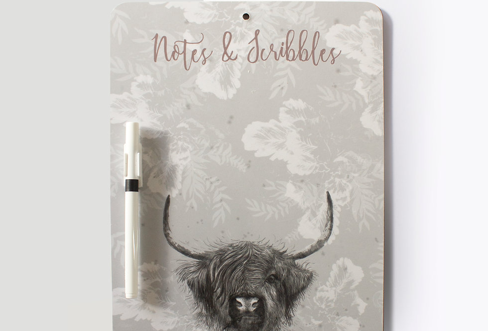 Highland Cow Memo Board