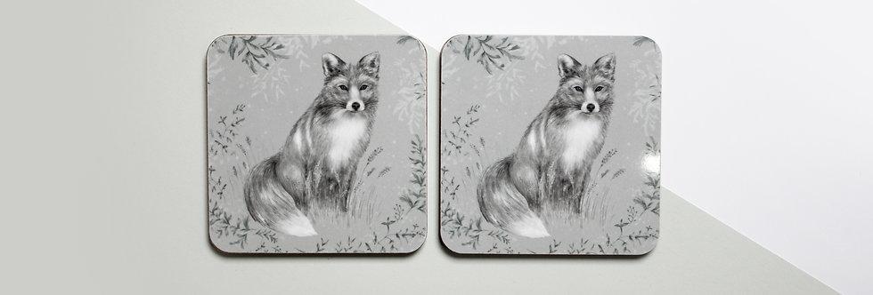 Fox & Fern Coaster Set (4)