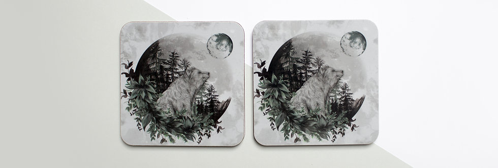 Luna Bear Coaster Set (4)